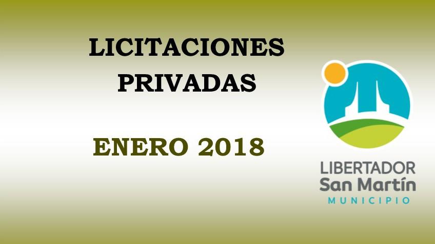 Licitaciones Privadas Enero 2018